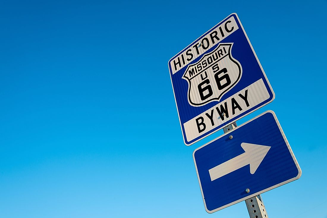 Sections of the route 66 are proclaimed to be the first interstate built in the US.
