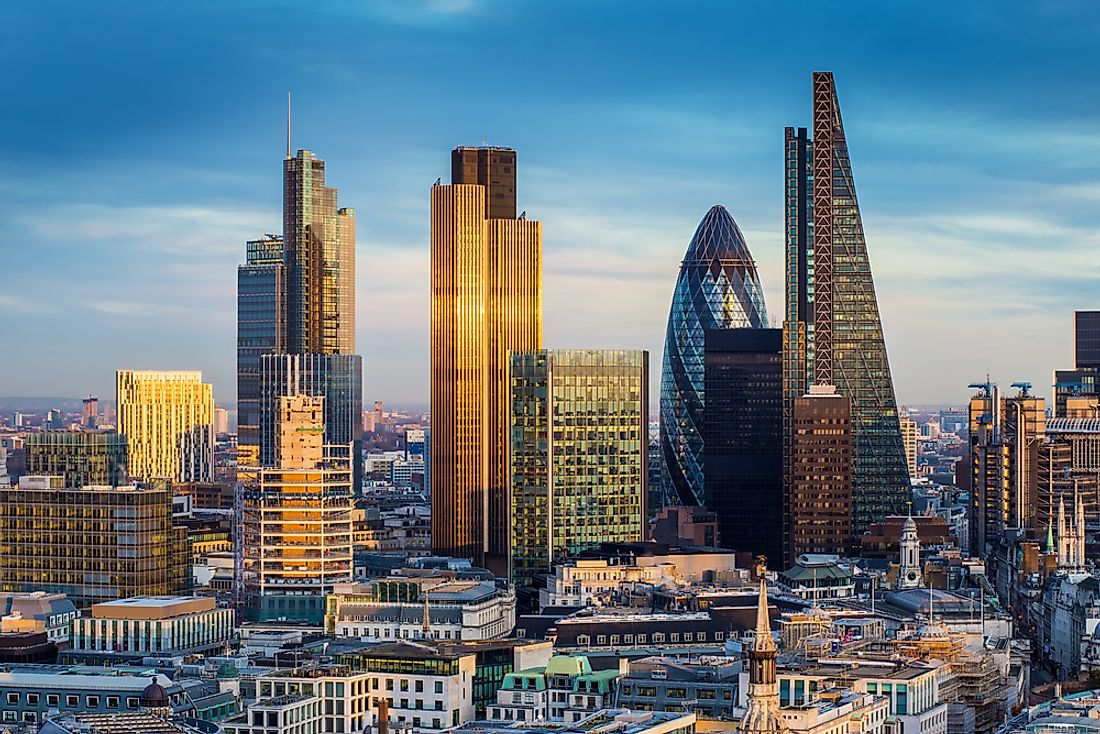 London is ranked as the top financial city.