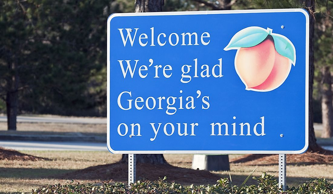 Georgia is known as the peach state.