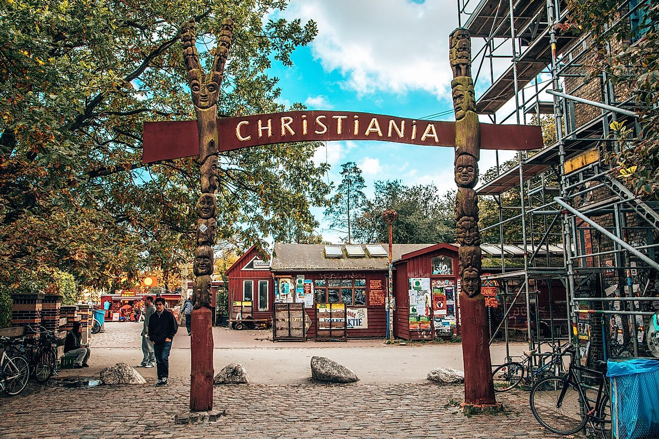 The main entrance to Freetown Christiania. Image credit: Ingus Kruklitis/Shutterstock