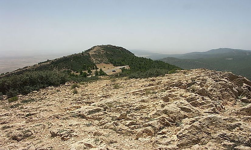 Jebel ech Chambi, the highest summit in Tunisia.
