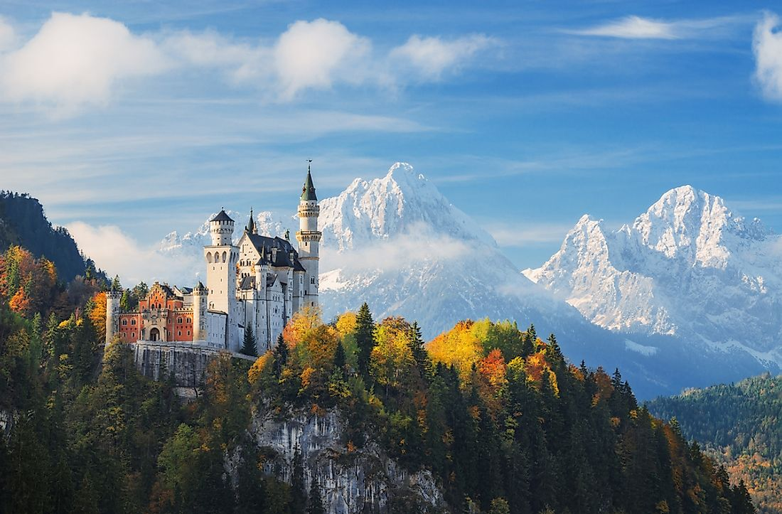 Neuschwanstein Castle in Bavaria, Germany, has served as inspiration for several Disney films.