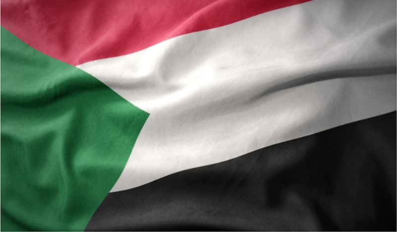 The flag of Sudan.