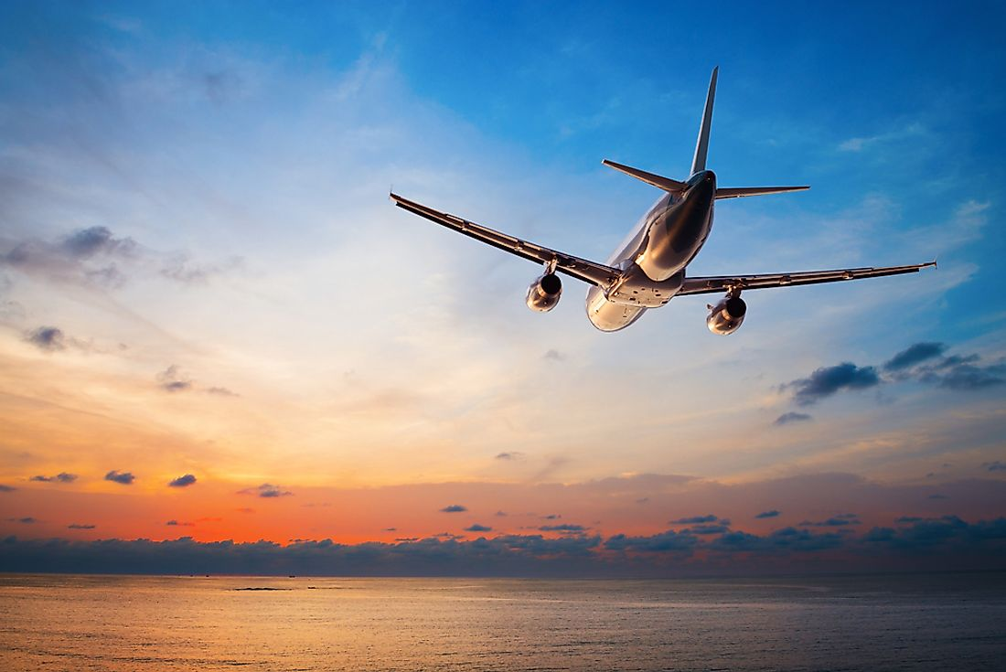 Air travel is able to cover longer distances in a shorter period of time.
