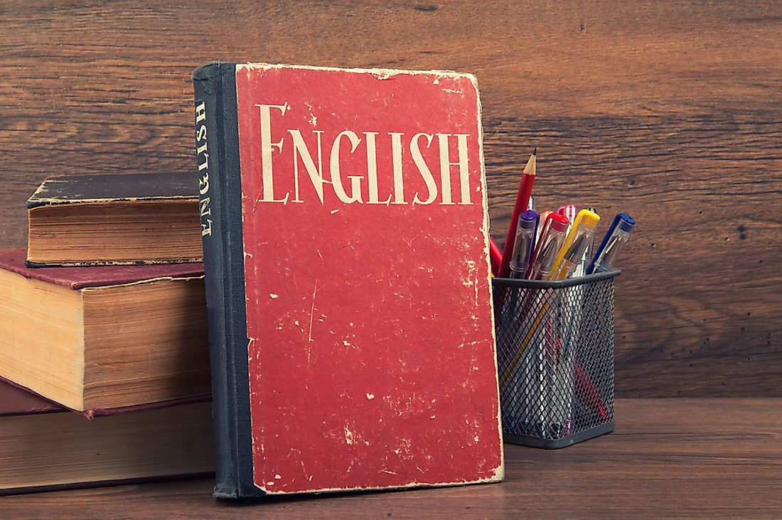 English is commonly learned as a second language.