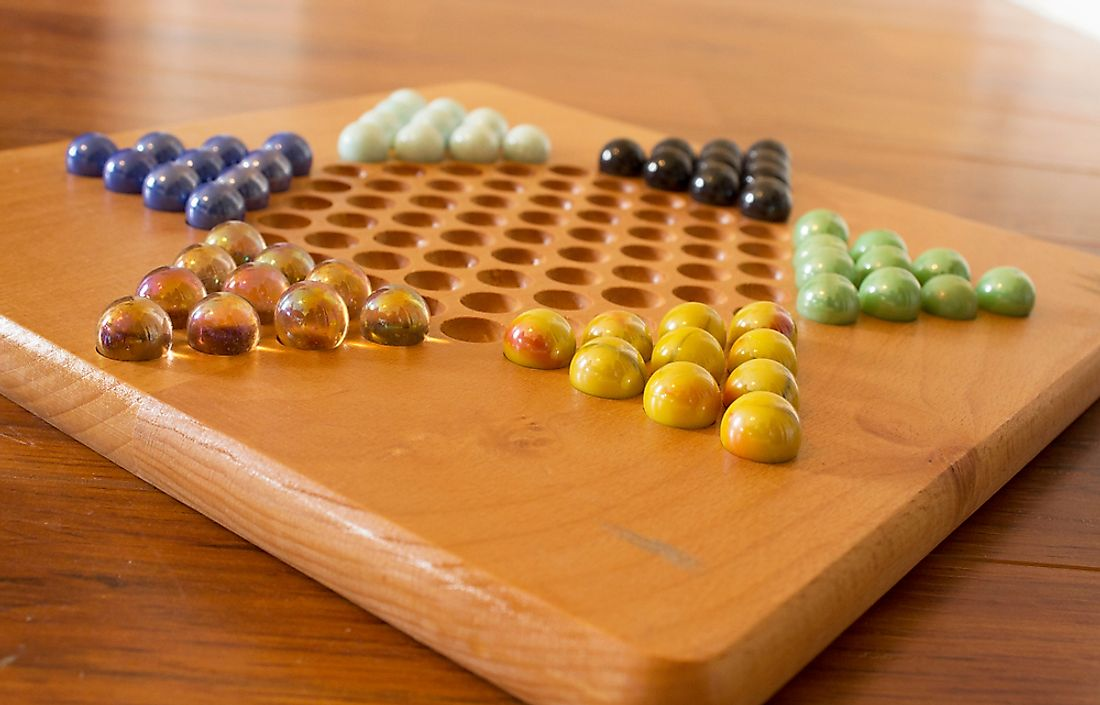 A Chinese checkers board.