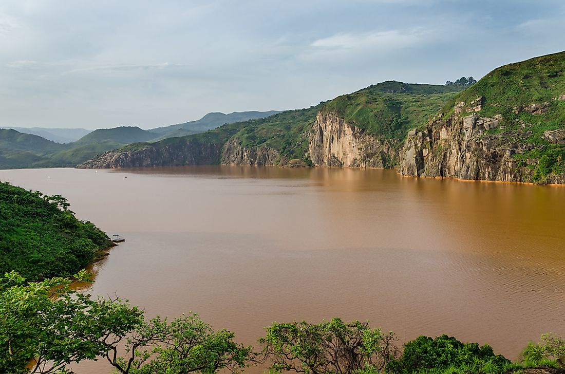 Lake Nyos in Cameroon.