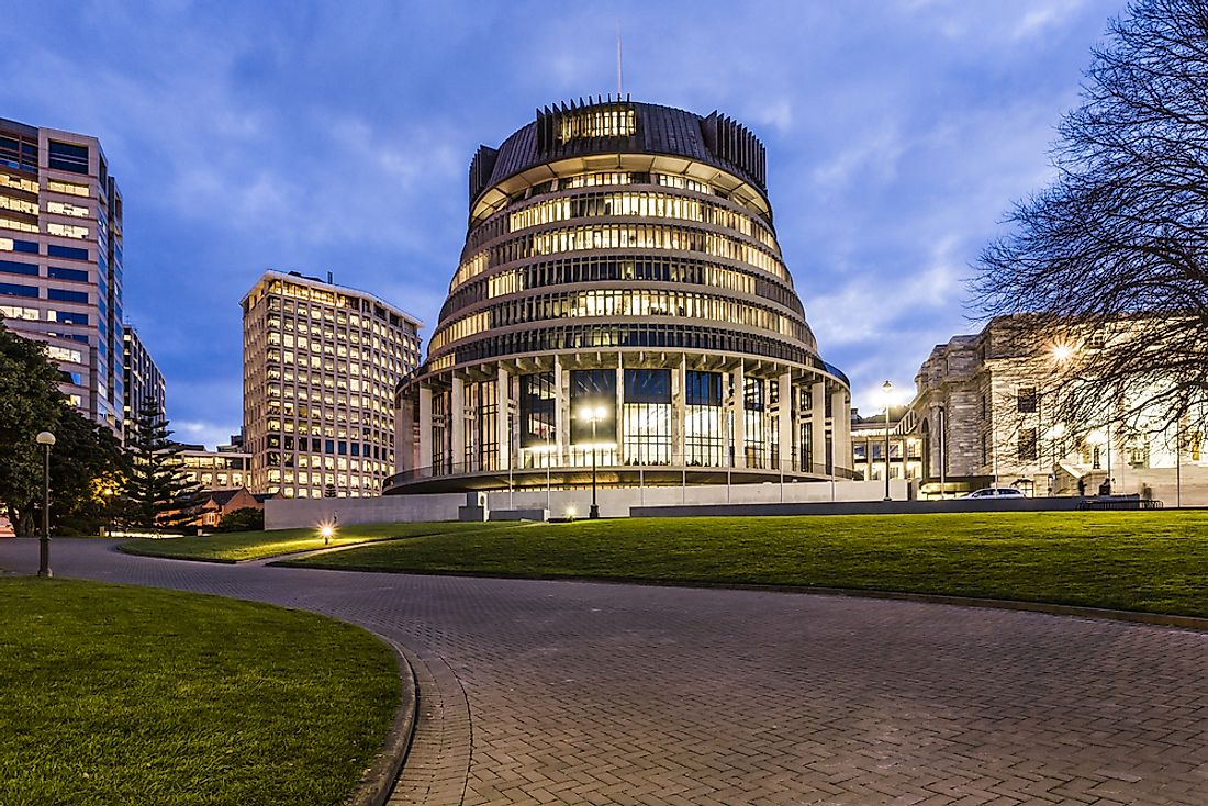 "New Zealand's parliament building is known as ""the Beehive""."