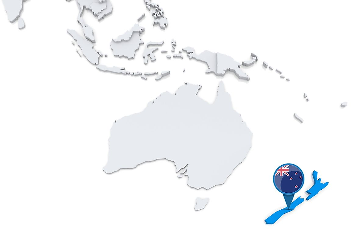 New Zealand is located approximately 1500 km east of Australia.