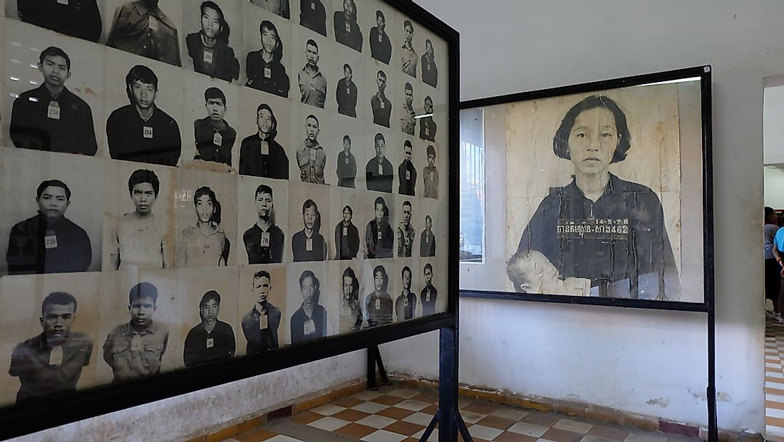 A view of the Toul Sleng Genocide Museum in Cambodia. Editorial credit: Thanachet Maviang / Shutterstock.com.