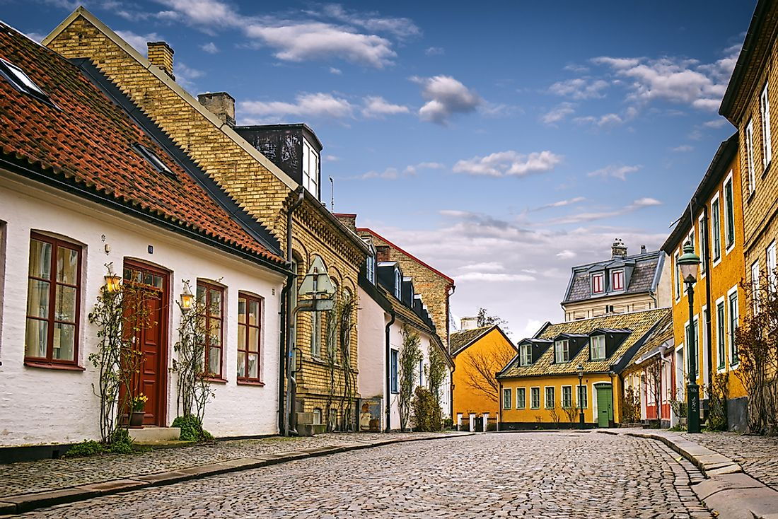 Houses in Lund, Sweden.