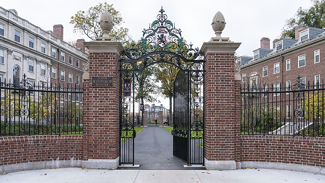 Harvard's main campus located in Cambridge, Massachusetts. Editorial credit: Marcio Jose Bastos Silva / Shutterstock.com
