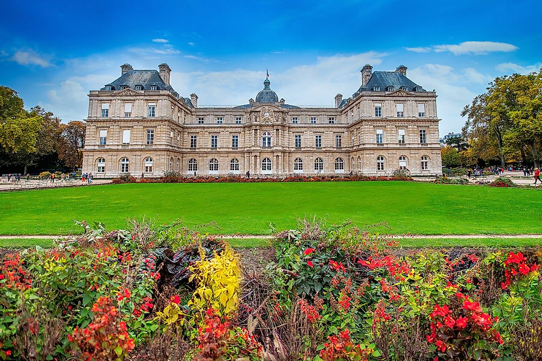 Luxembourg Palace is a notable building in Paris.