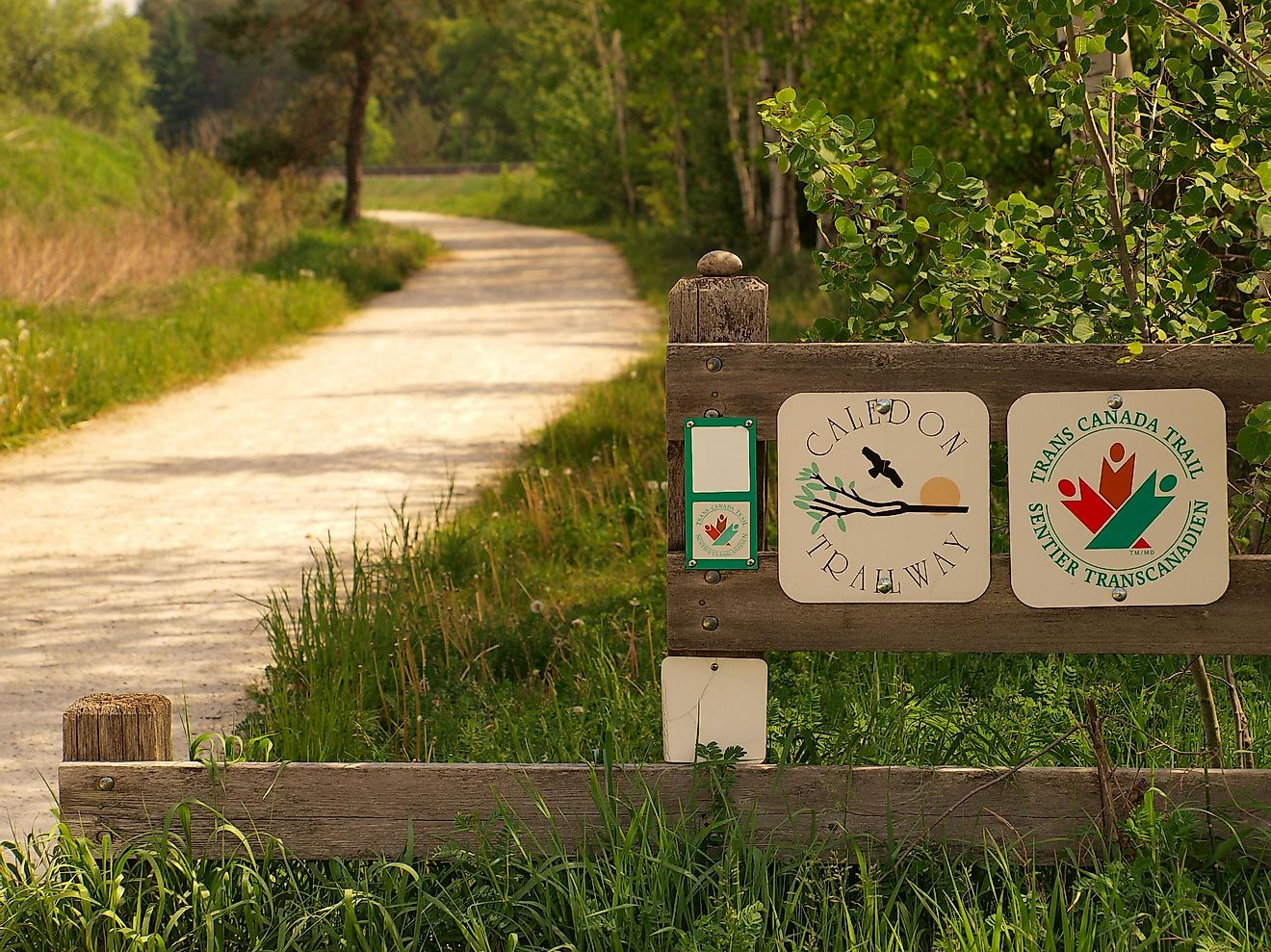 The Trans Canada Trail, the longest hiking trail in the world.