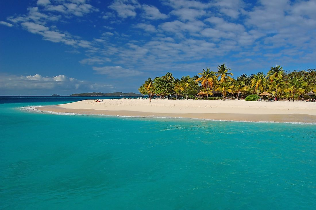A beach in Saint Vincent and the Grenadines.