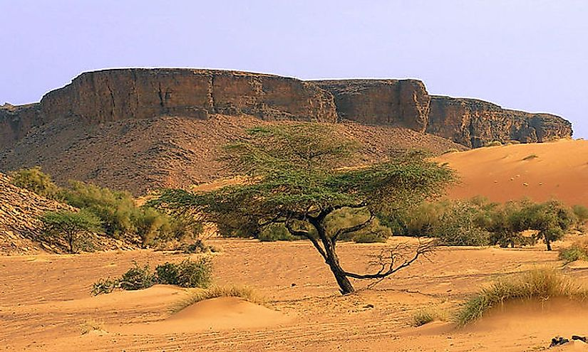 Mountains in the Adrar region of Mauritania.