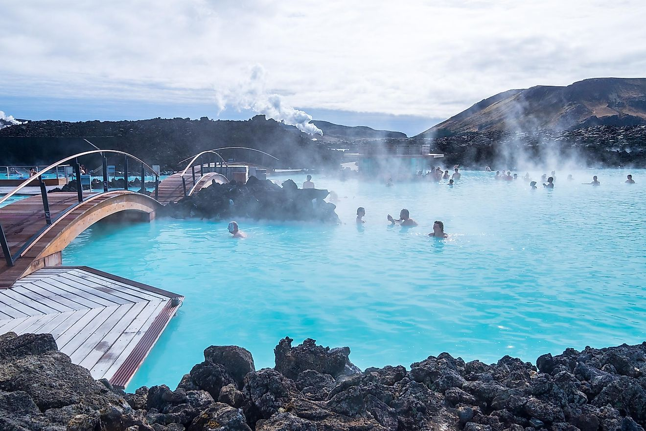 The Blue Lagoon geothermal spa is one of the most visited attractions in Iceland.