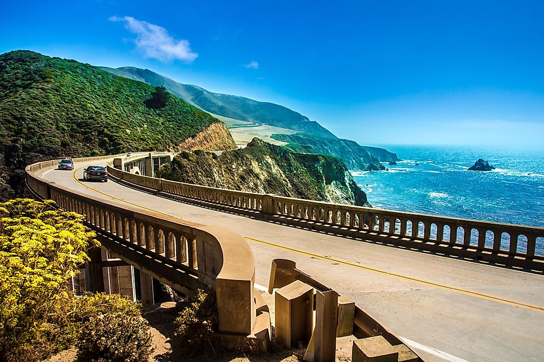 The famous Highway 1, California.