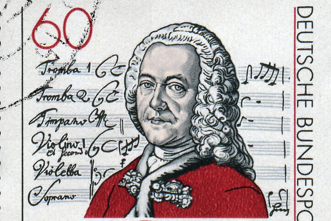 Commemorative stamp of Georg Philipp Telemann released by East Germany in 1981. Editorial credit: wantanddo / Shutterstock.com