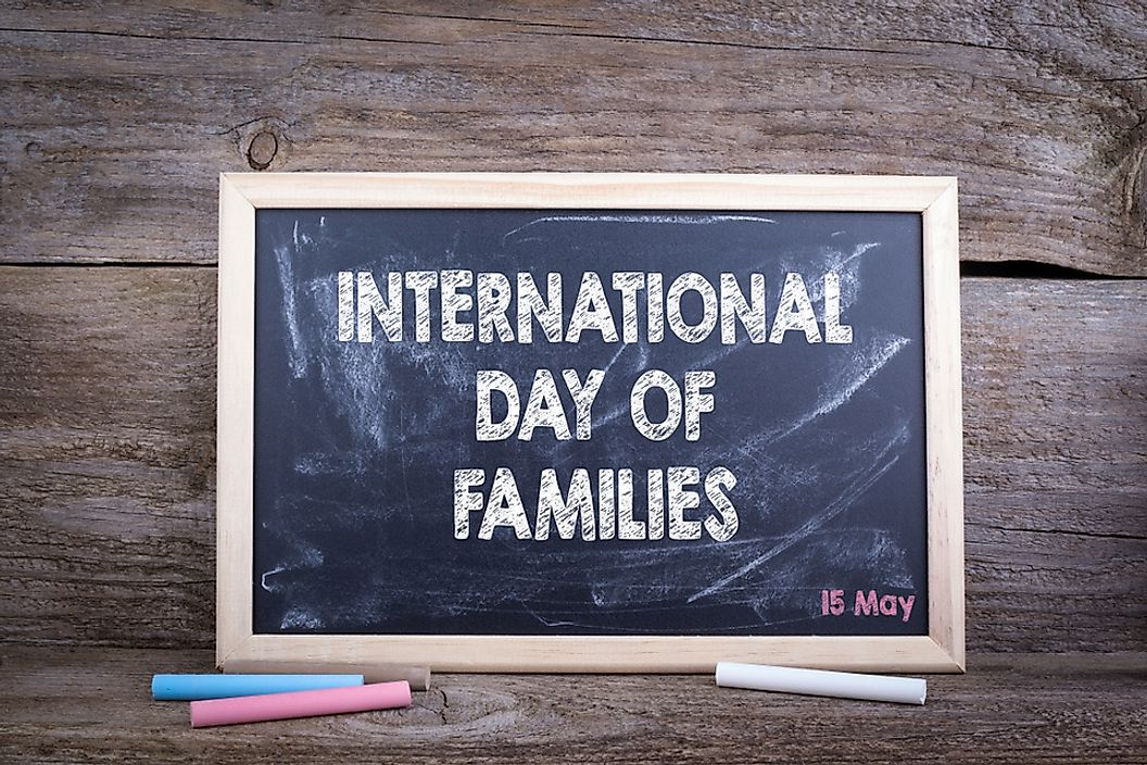 The International Day of Families is celebrates the importance of families.