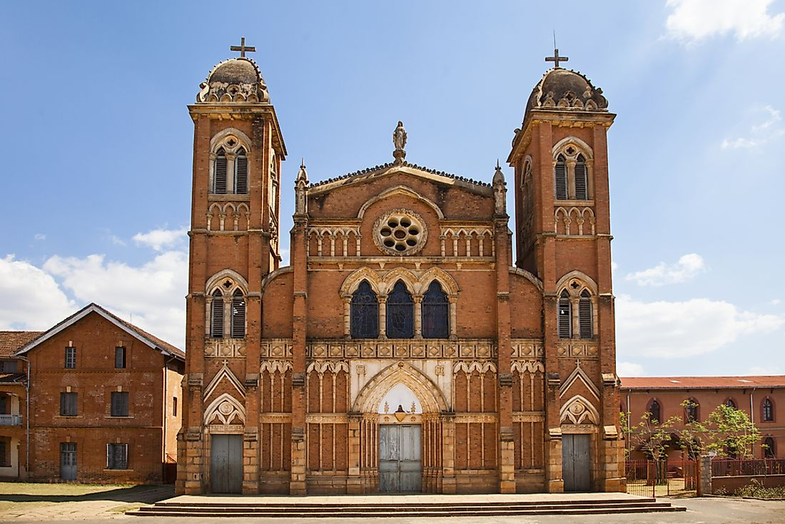 A Catholic cathedral in Betafo, Madagascar.