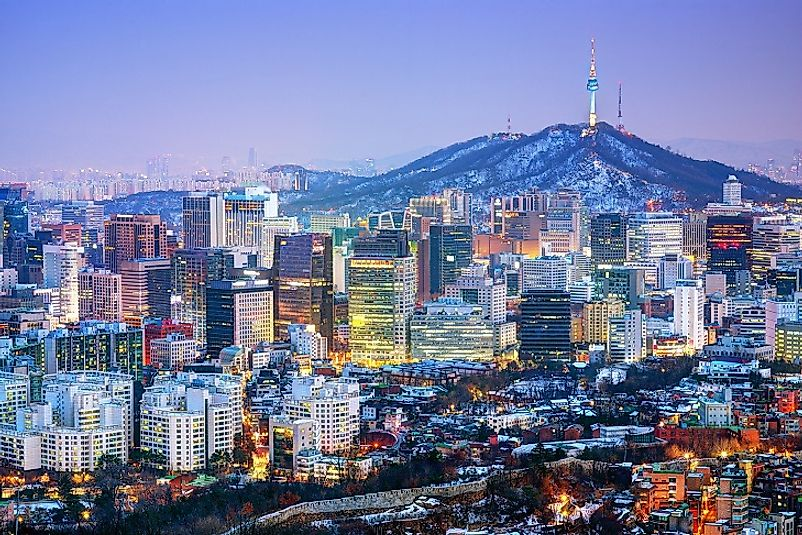 Night descends upon the bright lights, hustle, and bustle of Seoul.