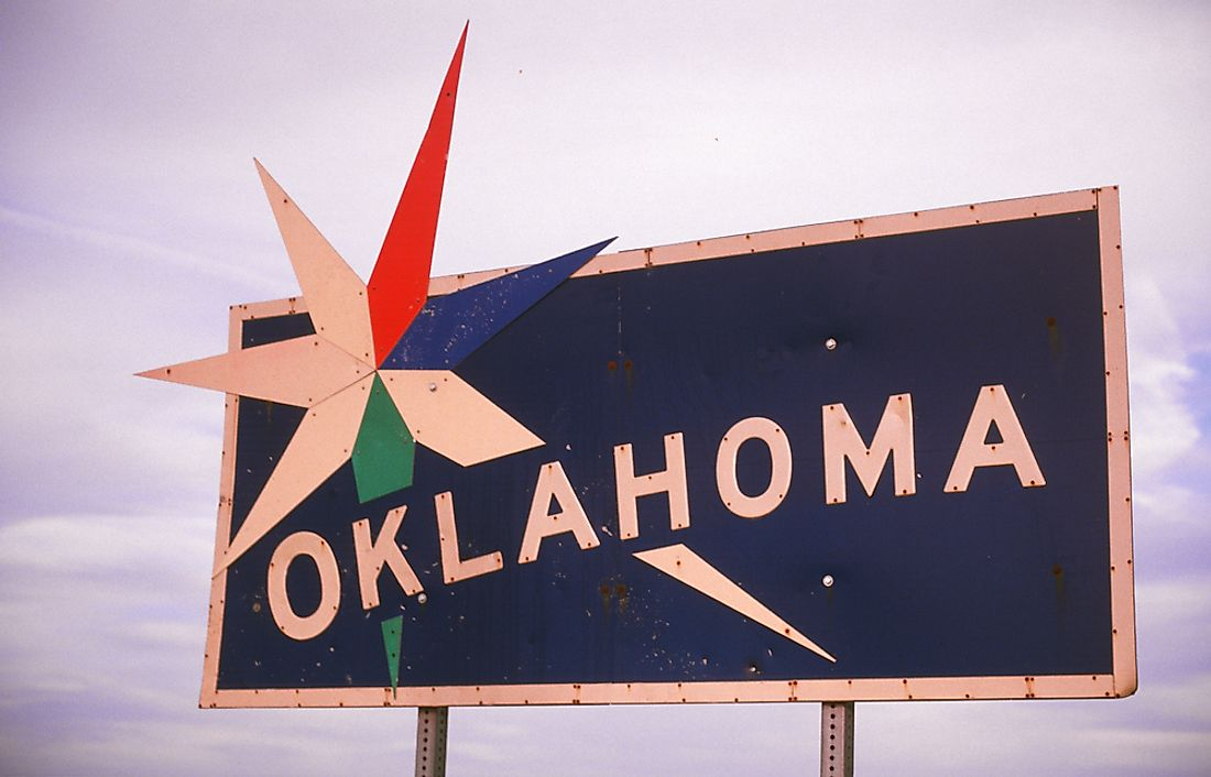 Oklahoma state sign.