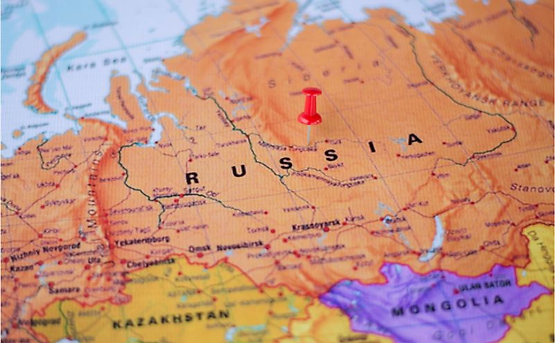 Russia is the world's largest country and Siberia is a part of it.