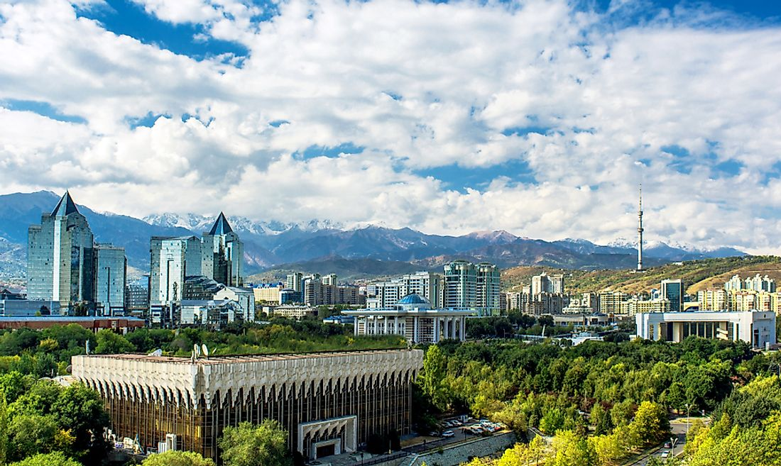 Almaty, the biggest city in Kazakhstan.