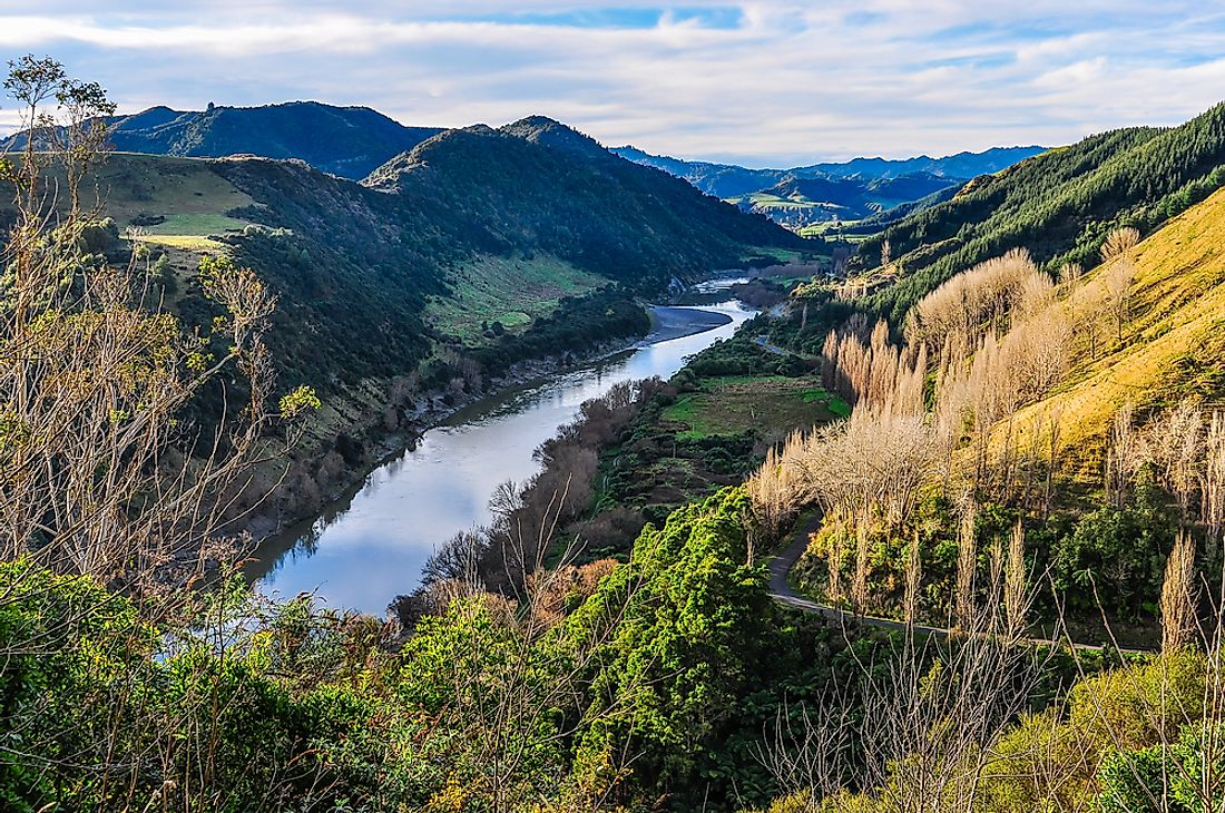 The Whanganui River is located on New Zealand's north island.