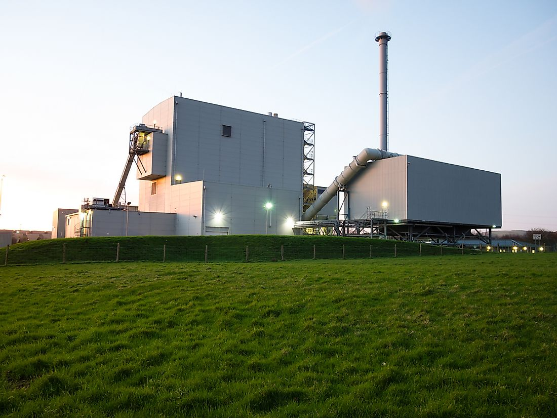 A biomass power station.