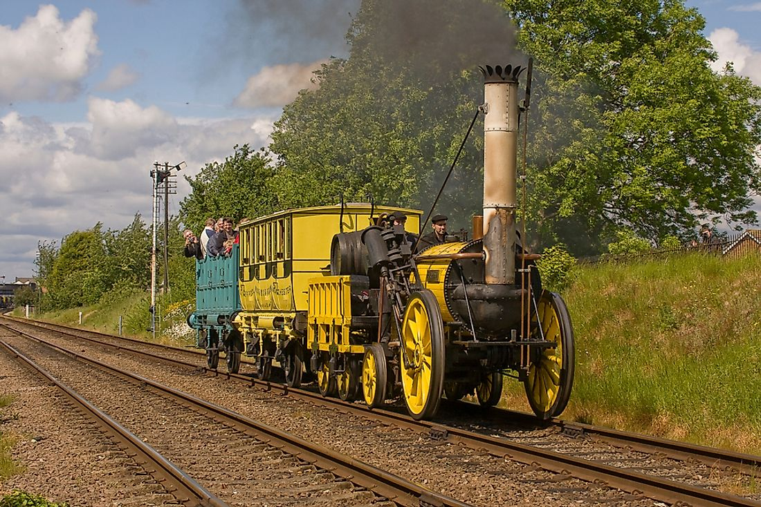 The Stephensons' locomotive was referred to as the 'rocket' as it could move loads at a speed of 36 miles per hour.  Editorial credit: Kev Gregory / Shutterstock.com