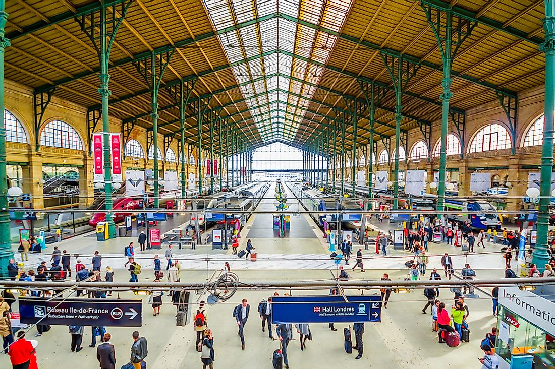 Gare du Nord, in Paris, is Europe's busiest. Editorial credit: Fotos593 / Shutterstock.com.