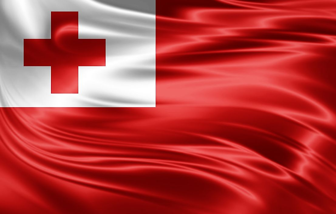 The flag of Tonga.