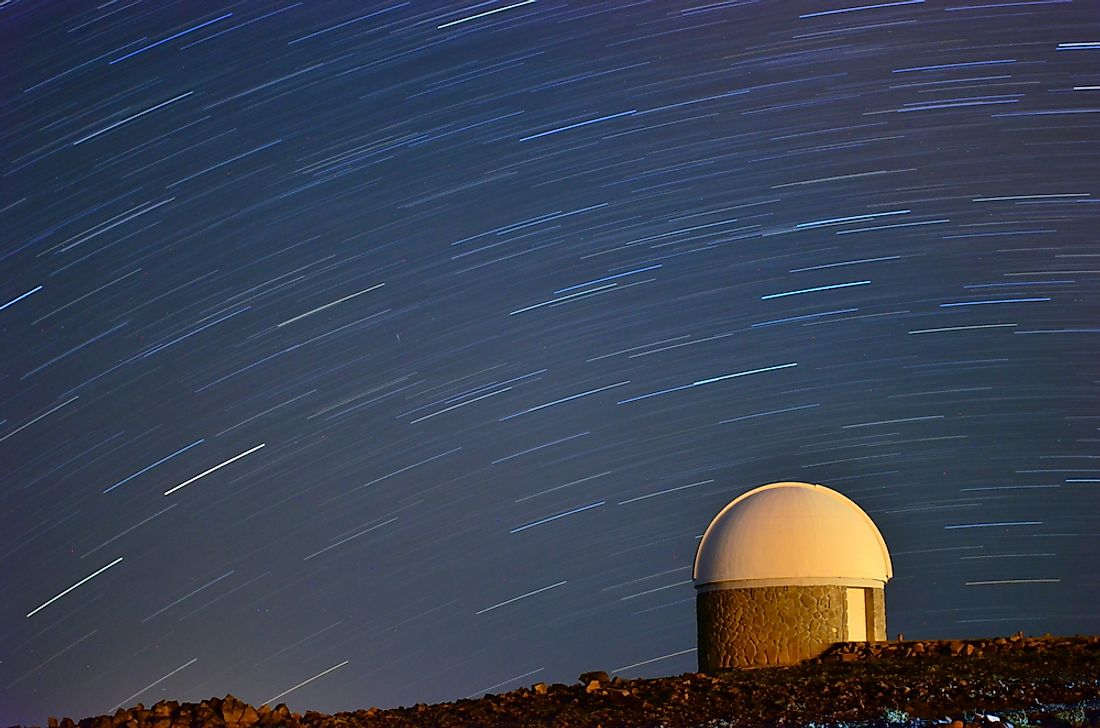 An observatory in the Atacama desert.