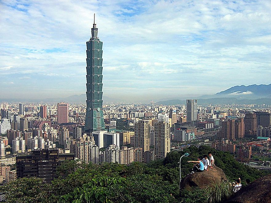The tallest building in Taiwan, the Taipei 101, also hosts the speediest elevator in the world.