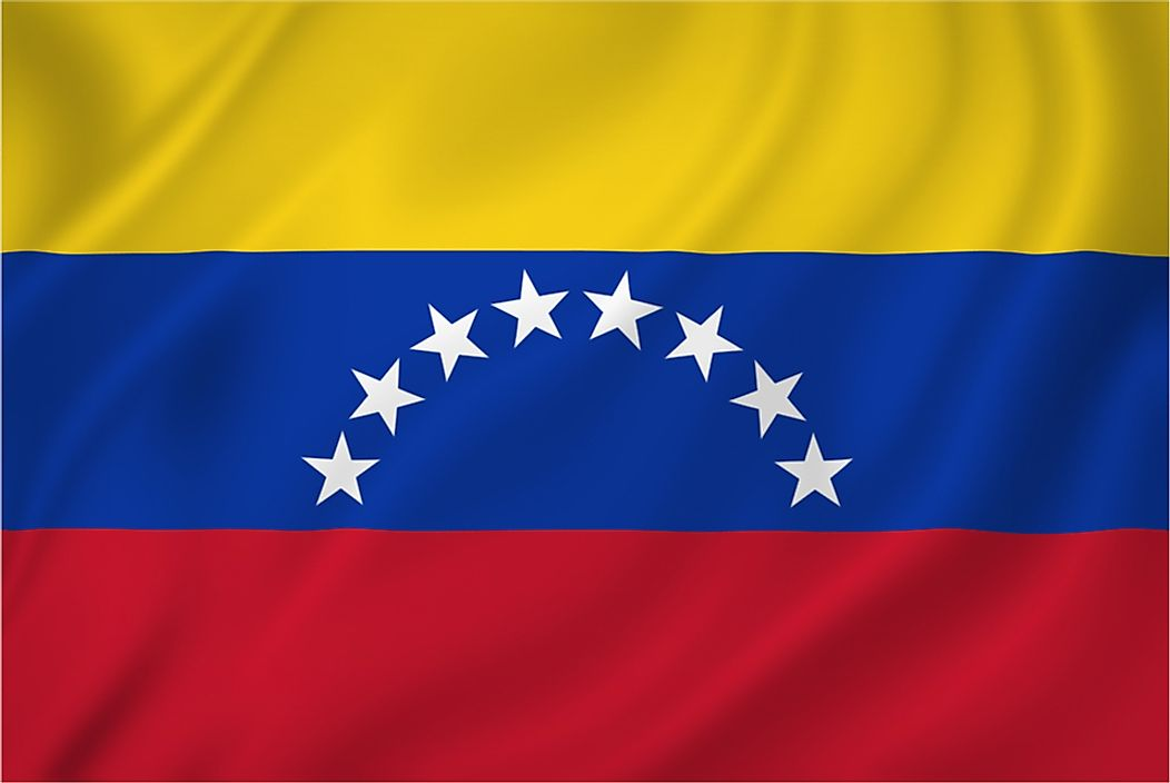 The flag of Venezuela.