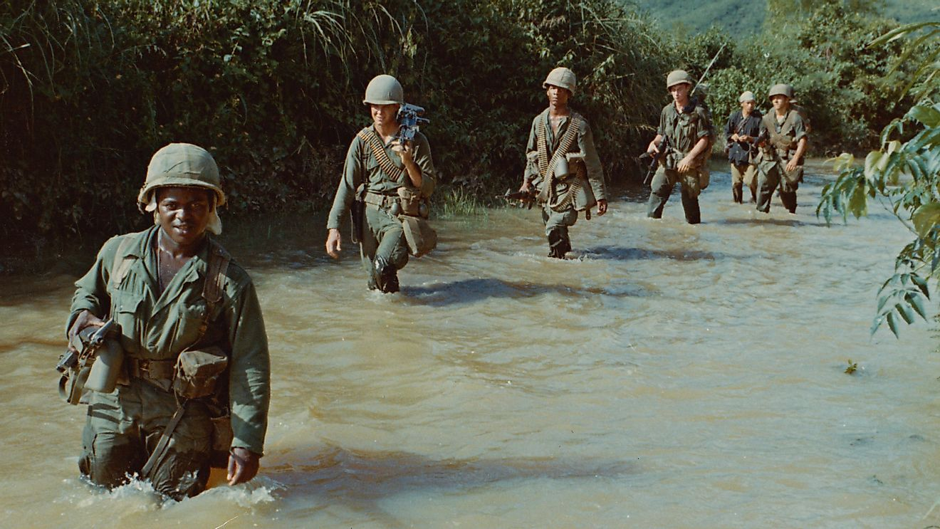 The Vietnam War took place from 1954 to 1975. Image credit: PBS