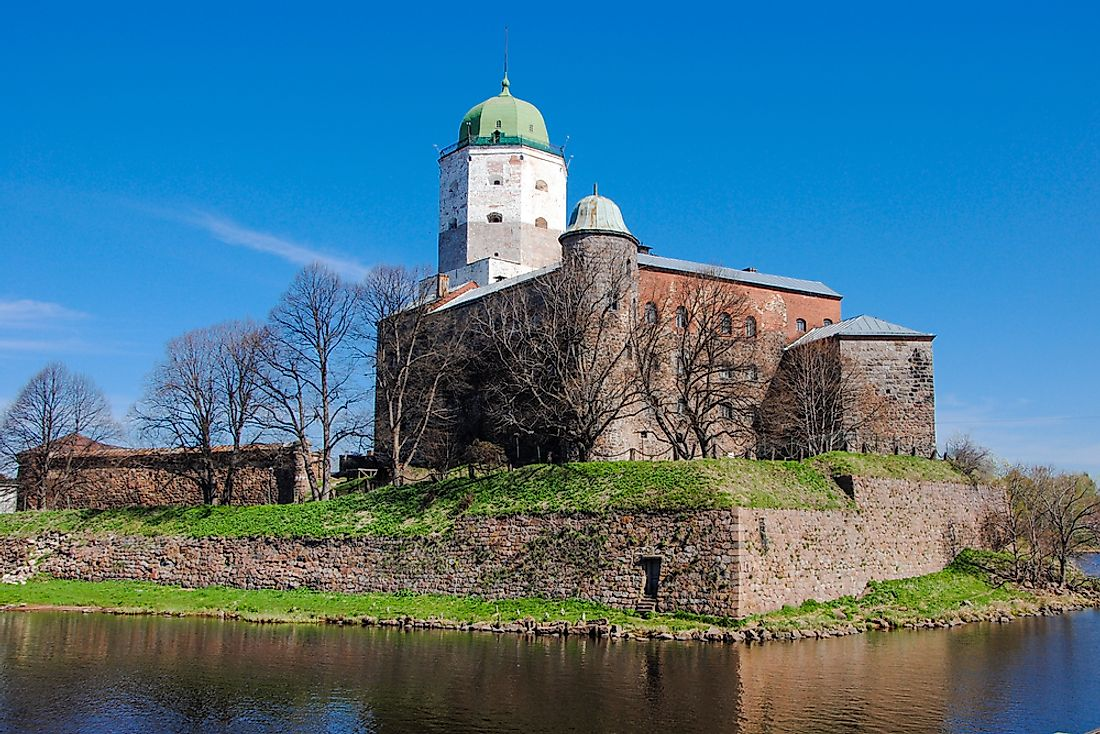 The Vyborg Castle, which was besieged in the Russo-Swedish War.