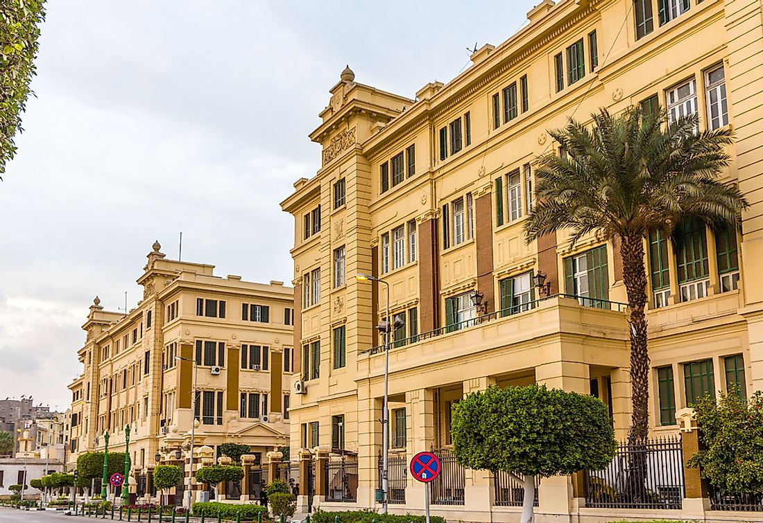 The residence of the President of Egypt, called Abdeen Palace.