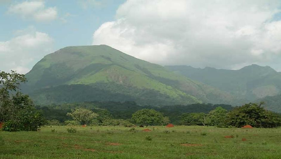 Mount Richard-Molard reaches high into the sky as the highest point in the Mount Nimba Strict Nature Reserve.