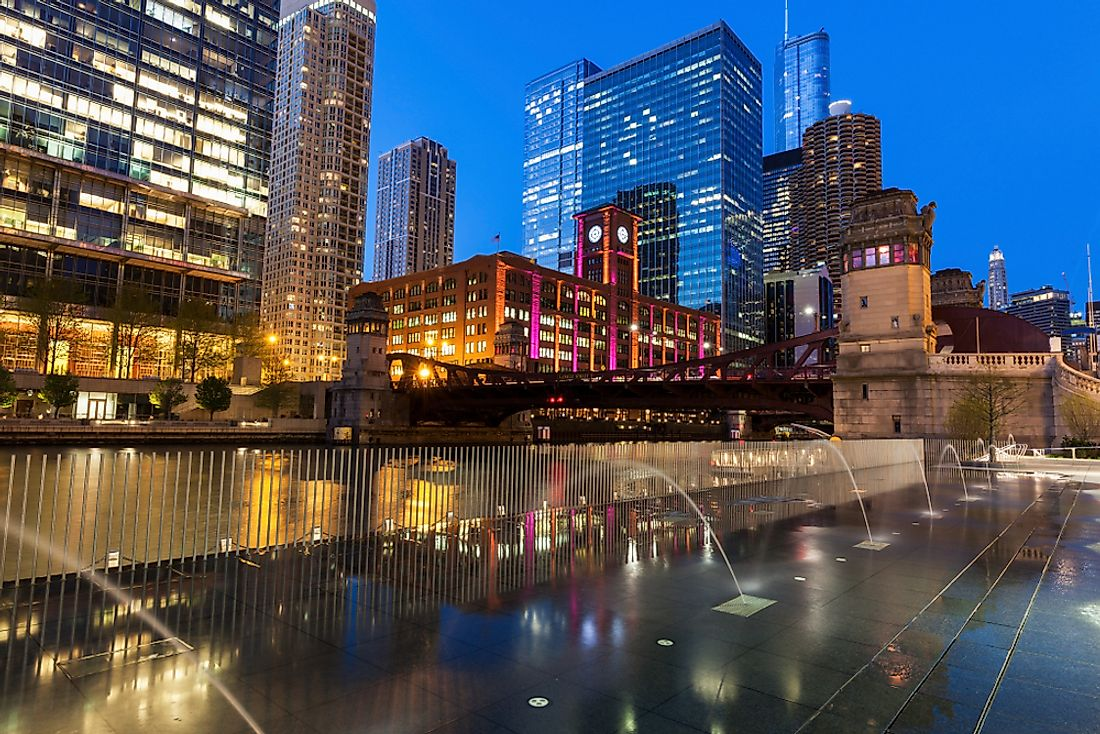 Chicago, the largest city in the American Midwest.