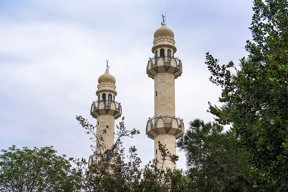An Ahmadiyya mosque in Kababir, Israel.
