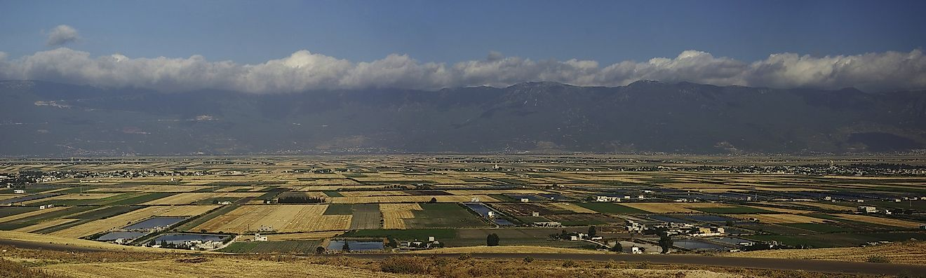 Fertile farming region along the Orontes River Valley in Syria.