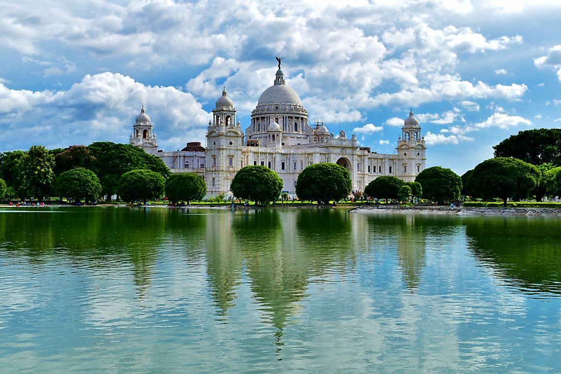 The Victoria Memorial in Kolkata, India, built between 1906 and 1921, in memory of Queen Victoria.