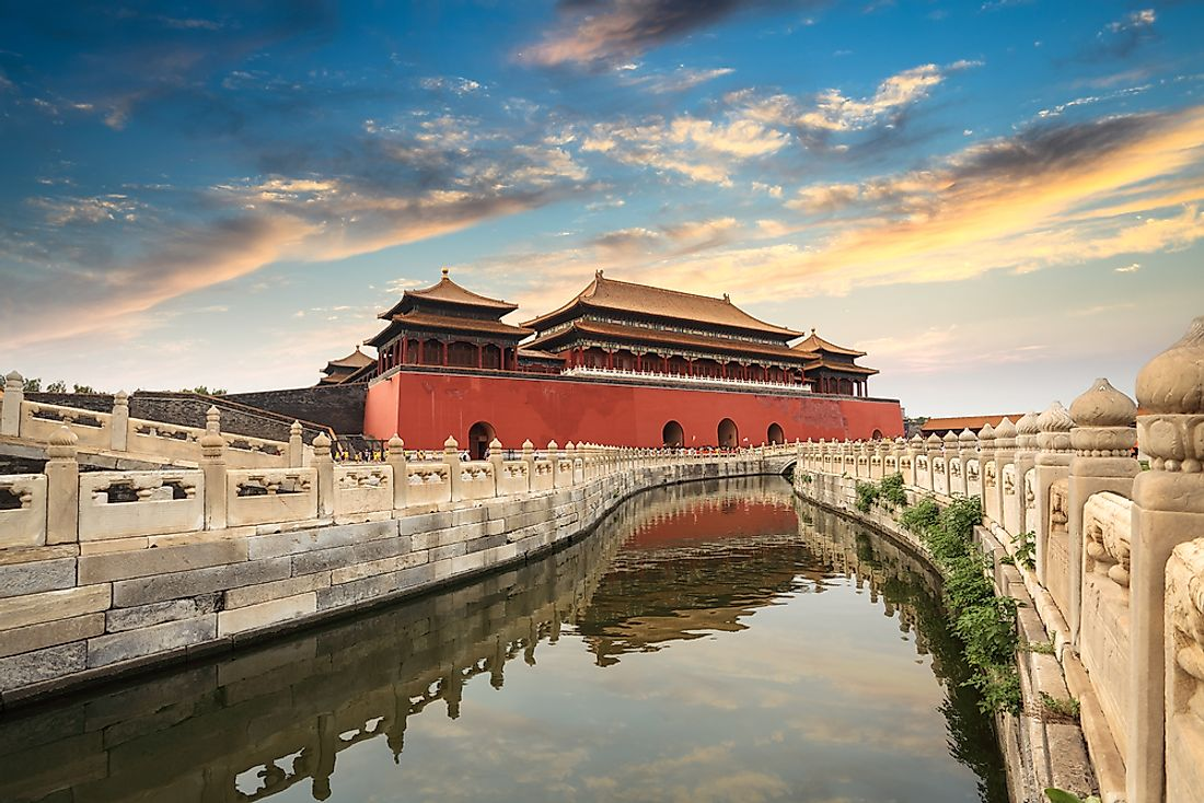 An angle of the Forbidden City in Beijing.