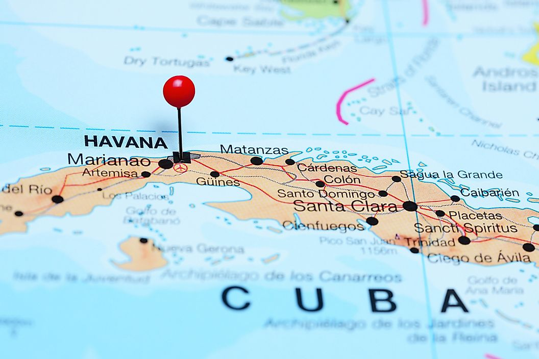 Most flights between Miami and Cuba land in Havana.