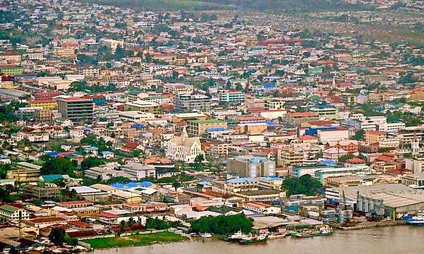 Downtown Georgetown, Guyana.