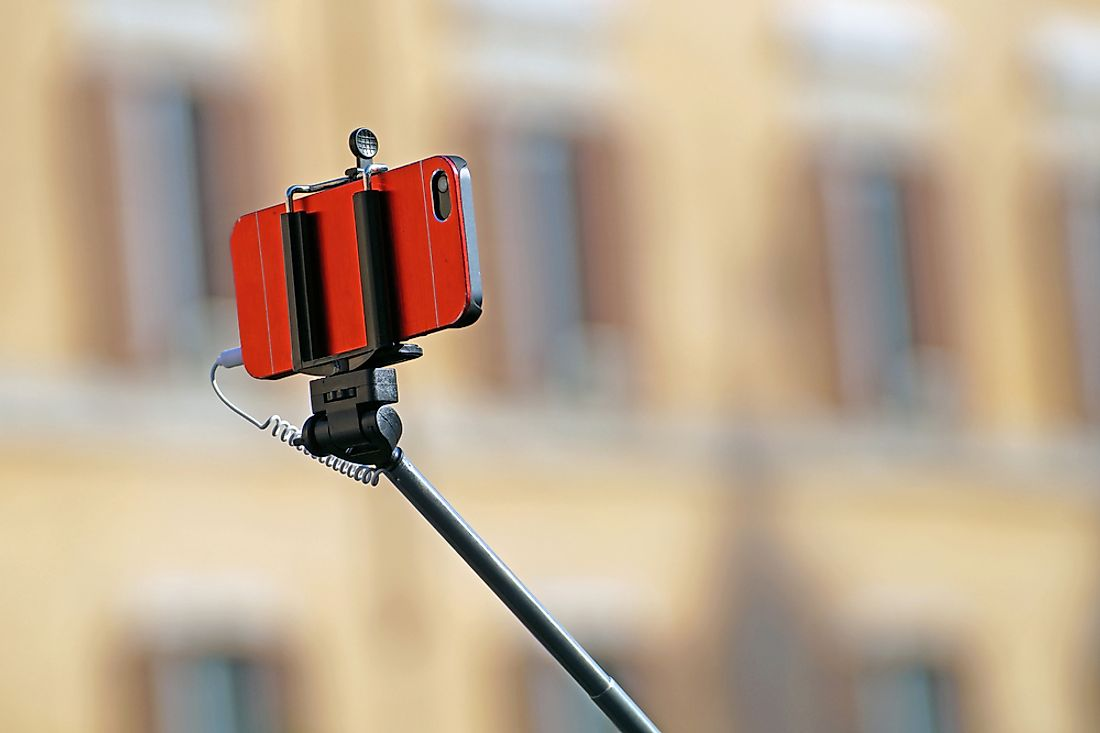 Selfie sticks have seen an increase in popularity in recent time. Photo credit: shutterstock.com.