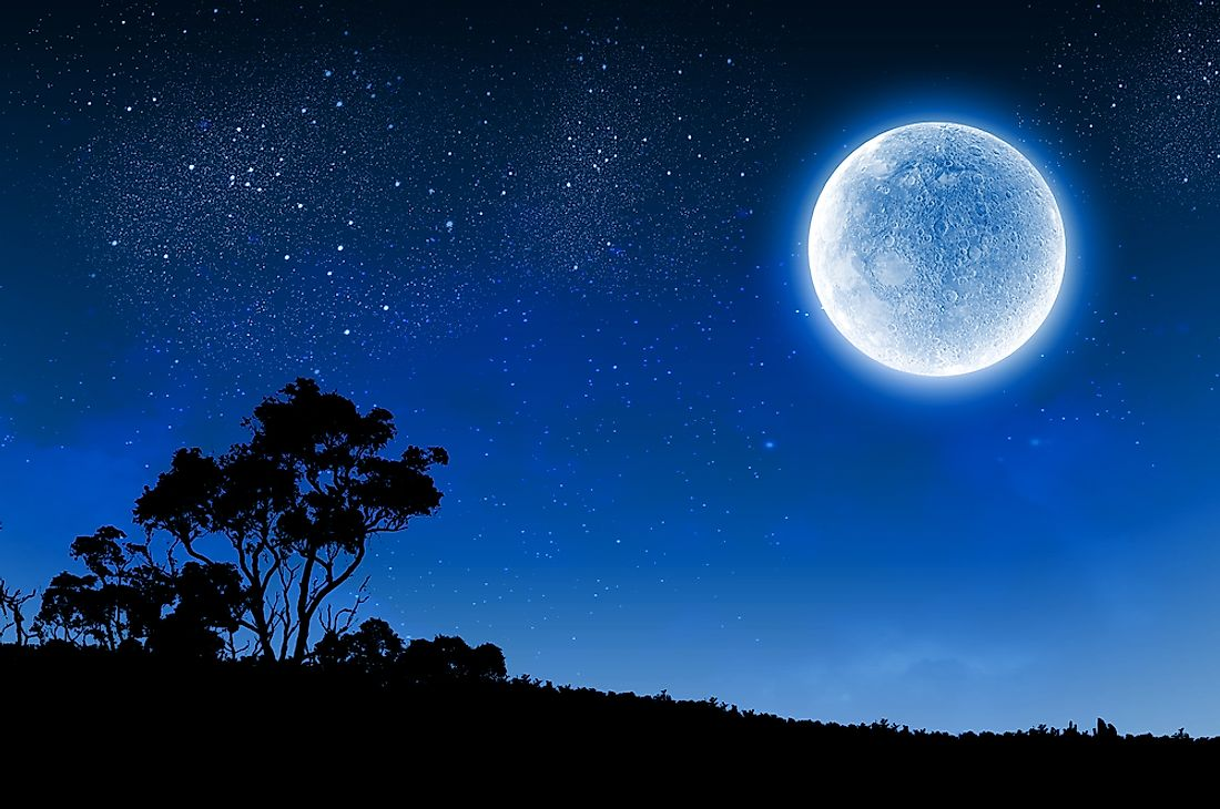 A blue moon refers to an extra unexpected full moon.